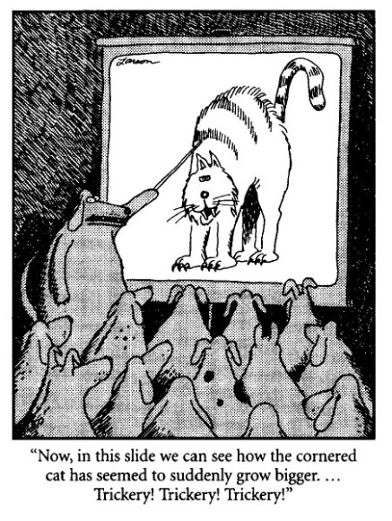 Image result for gary larson trickery
